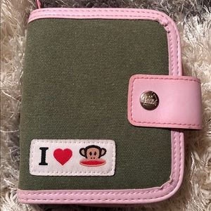 Throwback Paul Frank Wallet (Pink+Olive)